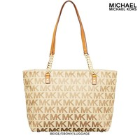 Michael by Michael Kors Jet Set Tote with Chain Detail - Assorted Colors