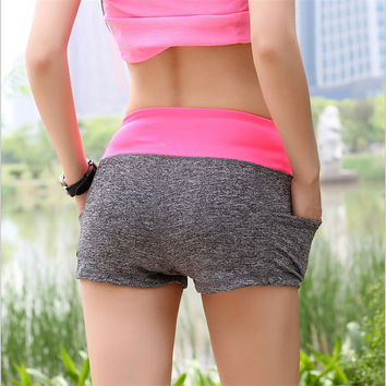 Lady activewear shorts women slim fitted  shorts girl summer active mini short quick dry sexy fashion short