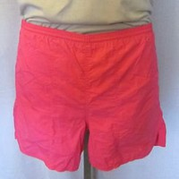 VTG Rare 80s NIKE NEON PINK SURF BEACH Athletic Gym Work Out Lined SMALL SHORTS
