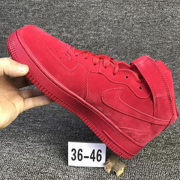 NIKE Air Red High Tops Trending Fashion Casual Sports Shoes Red G-CSXY