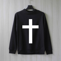 Cross Sweatshirt Sweater Shirt – Size XS S M L XL