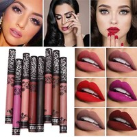 Brand Lip Makeup Long Lasting Lips Matte Lipstick Nude Cosmetic Moistourzing Lip Tint Tattoo Matte Liquid Lip Gloss Make Up