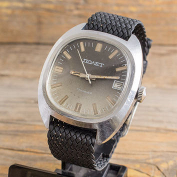 Vintage Poljot mens watch, russian watch, ussr ccp soviet watch