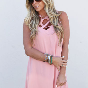 Sweet Blush Shift Dress