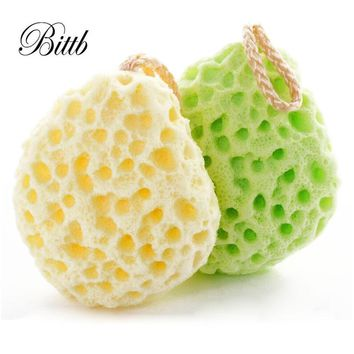 Bittb 1Pcs Exfoliating Facial Cleansing Bath Ball Sponge Makeup Remover Tools Body Shower Sponge Beauty Tools for Body Wash