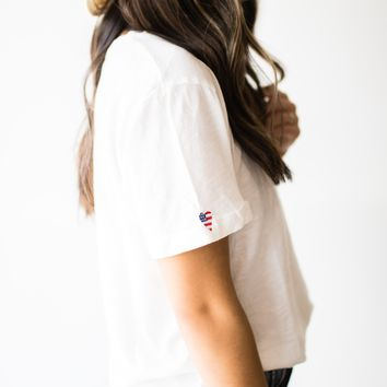 Heart America Roll Sleeve Tee