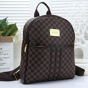 Louis Vuitton LV Woman Men Fashion Leather Backpack Daypack Rucksack Bookbag