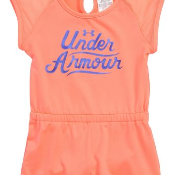 Under Armour Summer Script Logo HeatGear® Romper (Baby Girls) | Nordstrom