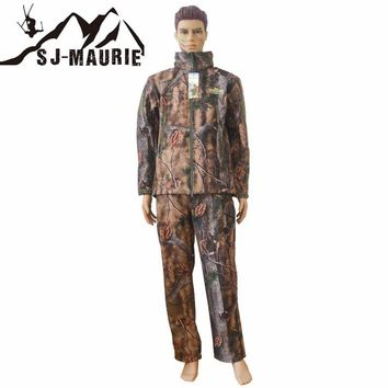 SJ-MAURIE Men Winter Military Outdoor Waterproof Hunting Suits Camouflage Jacket Tactical Hunting Clothes Hoody Coat Pants