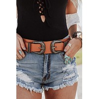 Dakota Double Buckle Western Belt