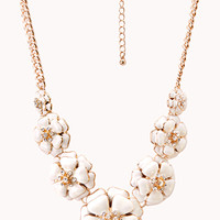 FOREVER 21 Sweet Floral Bib Necklace