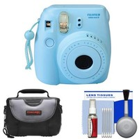 Fujifilm Instax Mini 8 Instant Film Camera (Blue) with Case + Cleaning Kit - Walmart.com