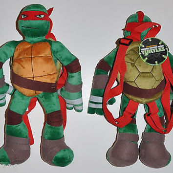 Raphael Teenage Mutant Ninja Turtles Plush Backpack-Licensed by Nickelodeon-New!