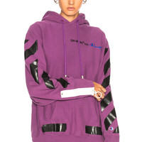 OFF-WHITE Champion Hoodie in Violet & Black | FWRD