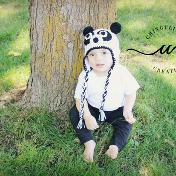 Crochet Panda Bear Hat for Babies and Kids