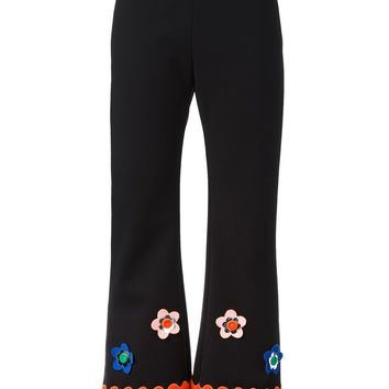Vivetta floral applique flared trousers