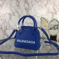 BALENCIAGA WOMEN'S LEATHER HANDBAG INCLINED SHOULDER BAG