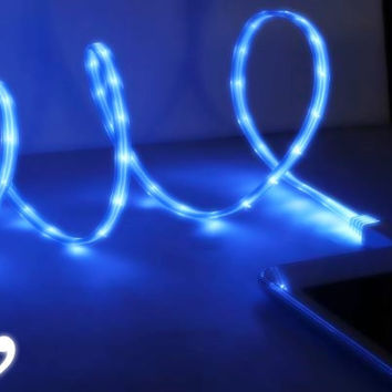 Premium LED Light Up USB Charger for iPhone 5, 5s, 5c Comma Sexy