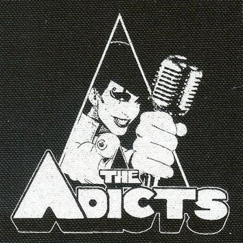The Adicts Sew On Canvas Patch Clockwork Logo