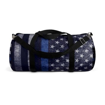 Distressed Thin Blue Line Duffle Bag