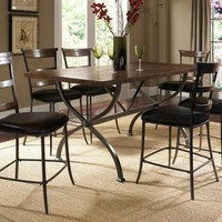102009 Cameron Counter Height Rectangle Wood Dining Set with Ladder Back Stool - Free Shipping!
