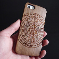 Wood iPhone 5 case -  iPhone 5S case - Wooden iPhone 5C case - Wood iPhone 4S case -  Wood iPhone 4 case - Tribal - 13