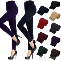 Fitness High Street Lady Womens Winter Warm Skinny Slim Stretch Thick Footless Leggings