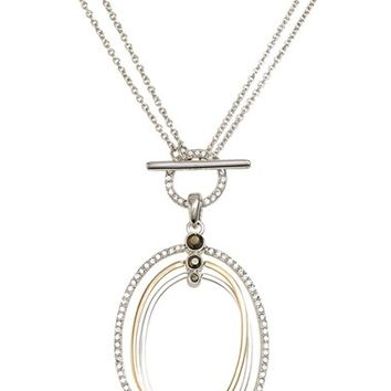 Women's Judith Jack Two Tone Circle Convertible Necklace - Silver/ Gold