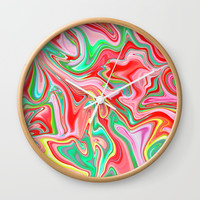 Summer Abstract2 Wall Clock by LEMAT WORKS