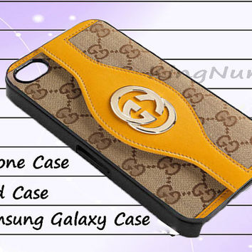 yellow gucci wallet for iphone 4/4S, iPhone 5/5S/5C, Samsung Galaxy S3/S4, iPod Touch 4/5, htc Case