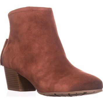 Kenneth Cole REACTION Pil Age Ankle Booties, Rust Suede, 8.5 US / 39.5 EU