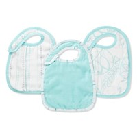 Infant aden + anais Snap Bibs - Blue (3-Pack)