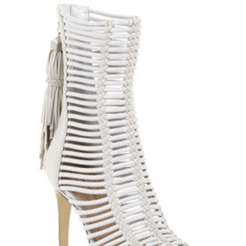 BCBG Ledder High-Heel Strappy Day Sandal
