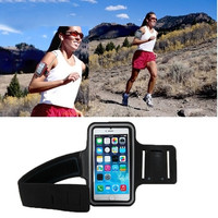 Dual Holes Sports Soft Tactility Durable Armband Holder Pouch Protective Case for iPhone 6 (Color: Black) = 1841864900