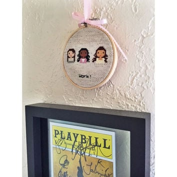 Hamilton Broadway The Schuyler Sisters Cross Stitch - Made to Order