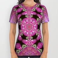 Pink Bohemian All Over Print Shirt by Webgrrl