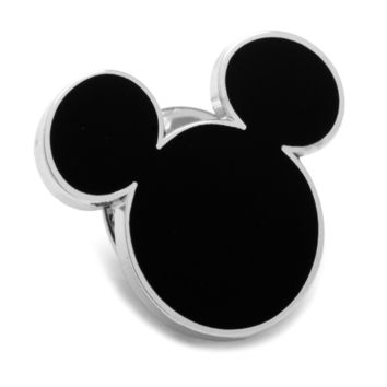 Mickey Mouse Black Silhouette Lapel Pin BY DISNEY