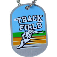 I Can Do Track & Field Necklace Dog Tag