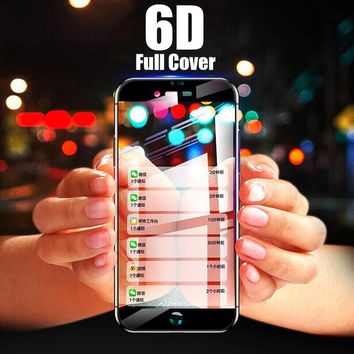 6D Full Cover Screen Protector Shock-Proof And Anti-Fingerprint Tempered Glass For IPhone X 6 6 Plus 6s 6s Plus 7 7 Plus 8 8Plus