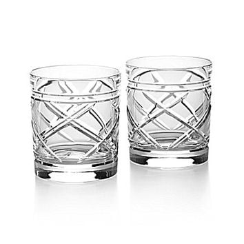 Ralph Lauren Brogan Classic Crystal Double Old-Fashion, Set of 2
