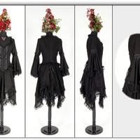 Eternal Love Black Gothic Morgaine En Voile Dress [5158B/R] - $95.99 : Mystic Crypt, the most unique, hard to find items at ghoulishly great prices!