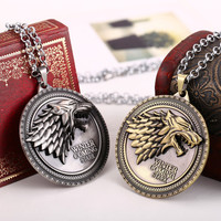 Game of Thrones House of Stark Pendant Necklace