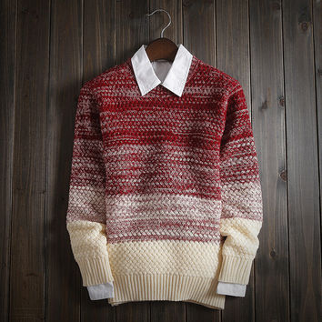 Fashion Men's Comfortable Soft Loose Knitted Sweater