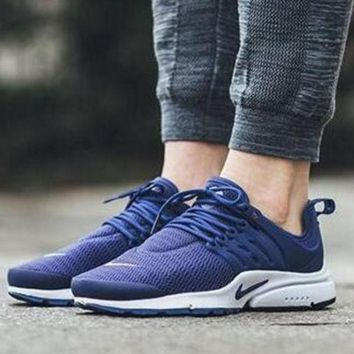 NIKEAir Presto Women Men Fashion Running Sport Casual Shoes Sneakers Dark blue