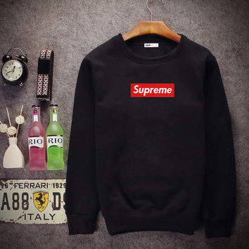 Supreme Round collar blouse head movement sweater Black
