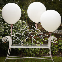 White 36 Inch Feature Party Balloons