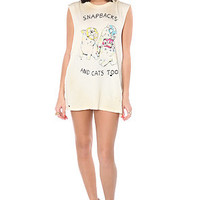 UNIF Tee Cats Muscle Tee in White