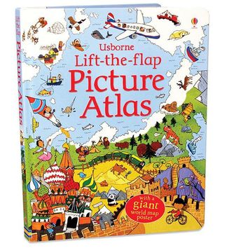 Recommend Educational Oxyphylla Picture Atlas Map english book for baby and small children Usbore Lift-the-flap gift for kids