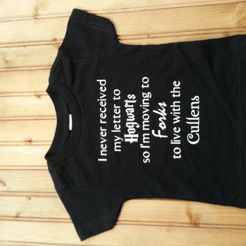 unisex harry potter and twilight childrens t-shirts