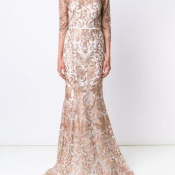Marchesa Notte Embroidered Gown - Marchesa - Farfetch.com